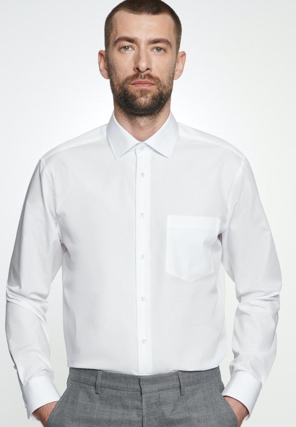 Bügelfreies Popeline Business Hemd in Comfort mit Kentkragen in Weiß    Seidensticker Onlineshop