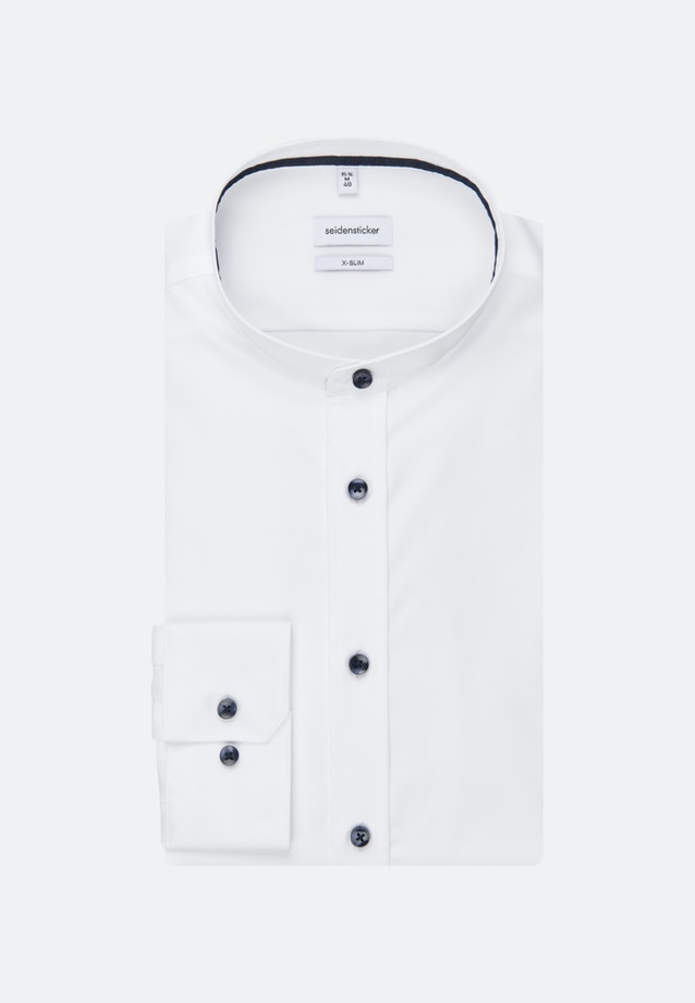 Non-iron Fil a fil Business Shirt in X-Slim with Stand-Up Collar in White |  Seidensticker Onlineshop