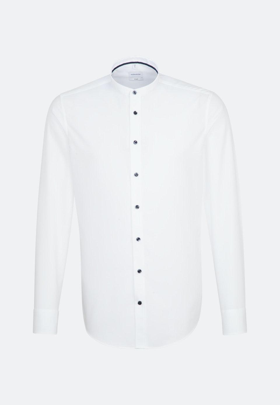 Bügelfreies Fil a fil Business Hemd in X-Slim mit Stehkragen in Weiß    Seidensticker Onlineshop