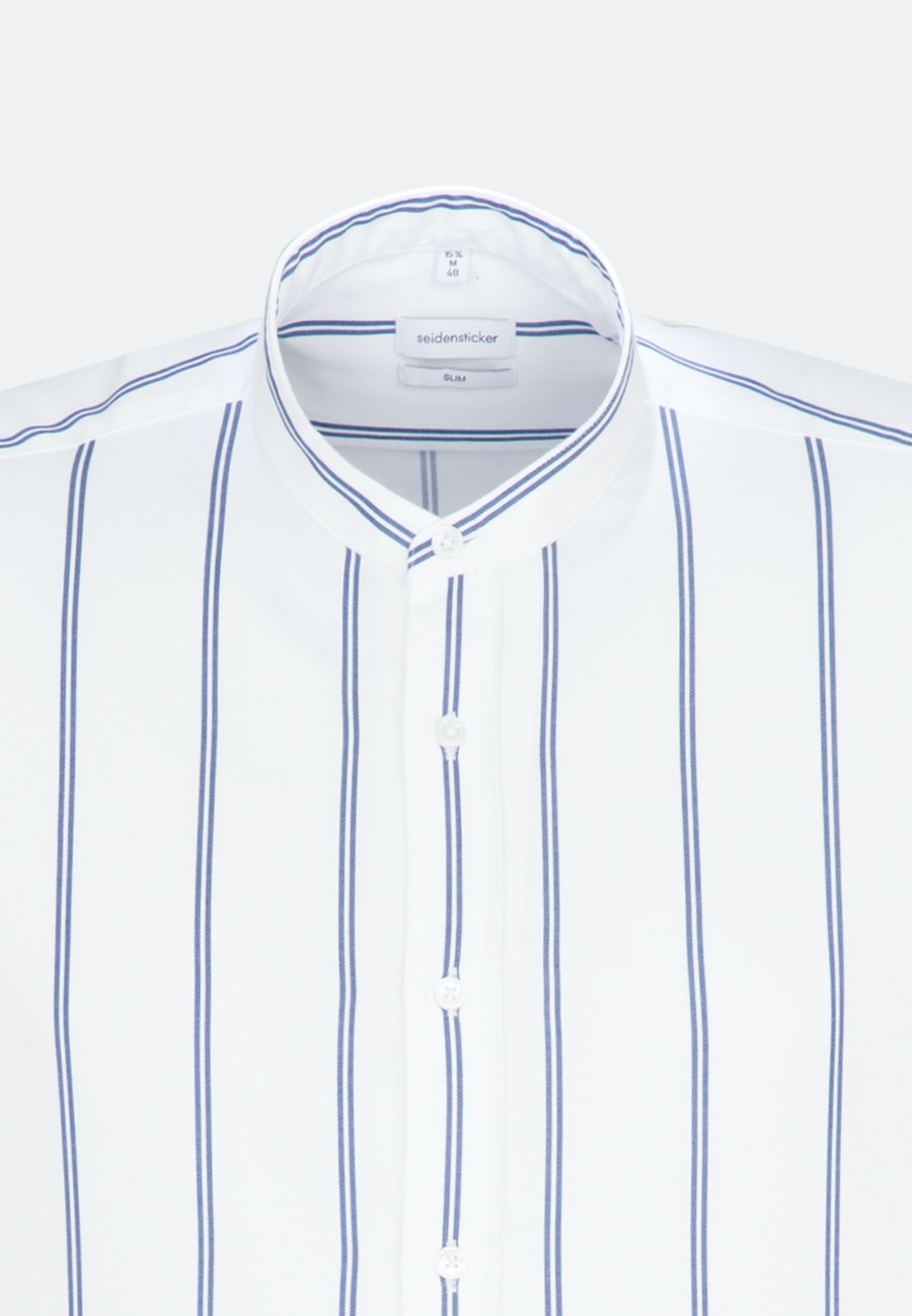 Easy-iron Twill Business Shirt in Slim with Stand-Up Collar in White |  Seidensticker Onlineshop