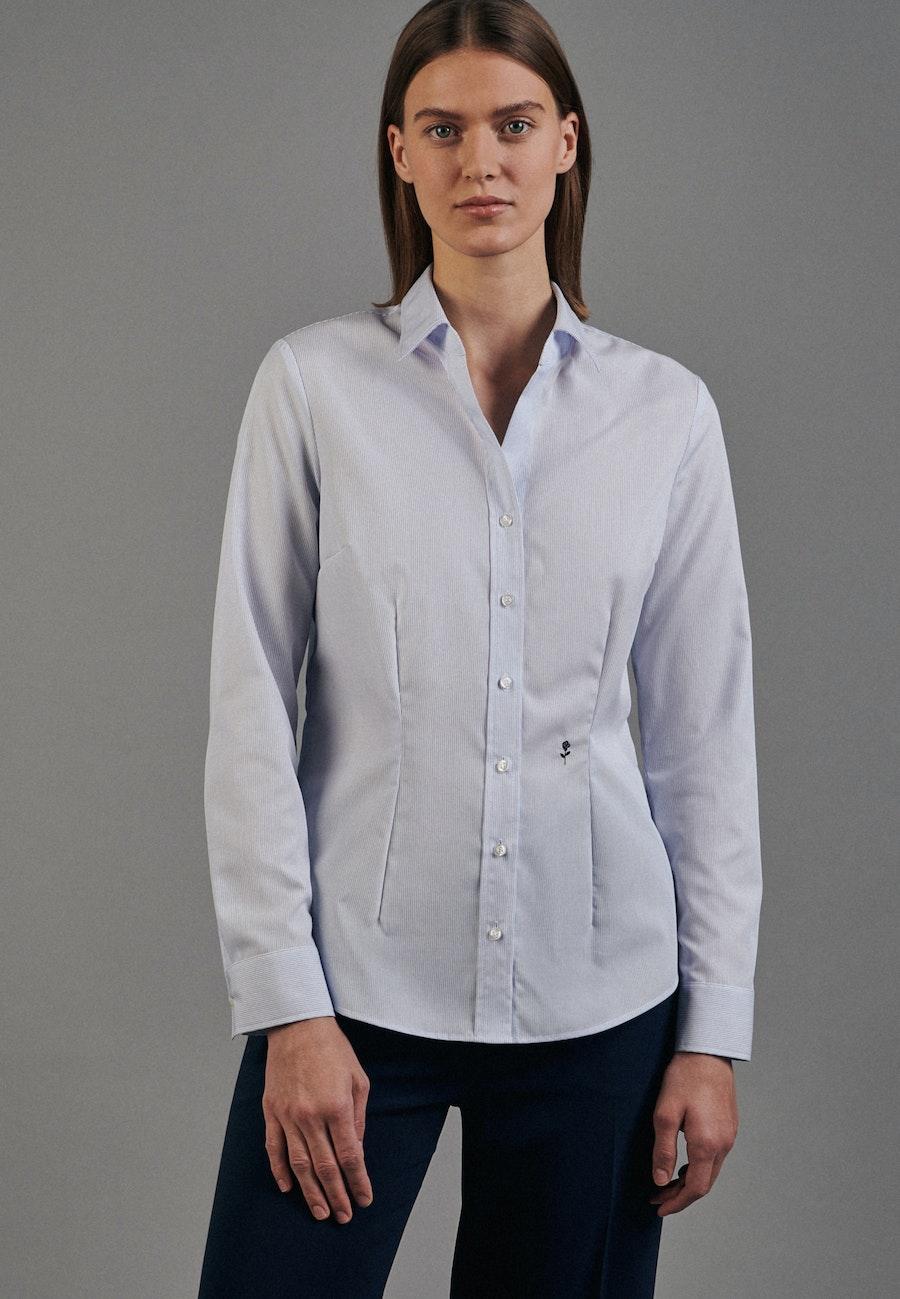 Non-iron Popeline Shirt Blouse made of 100% Cotton in Light blue |  Seidensticker Onlineshop