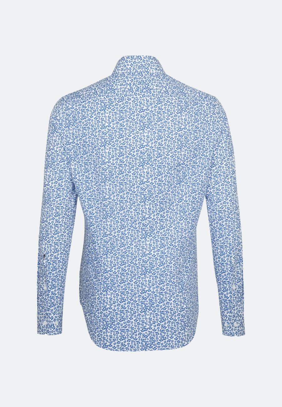 Popeline Business Hemd in Slim mit Kentkragen in Mittelblau |  Seidensticker Onlineshop