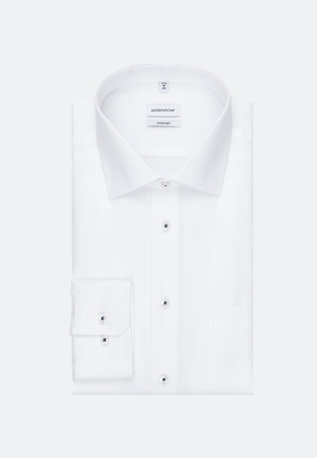 Non-iron Structure Business Shirt in Comfort with Kent-Collar in White |  Seidensticker Onlineshop