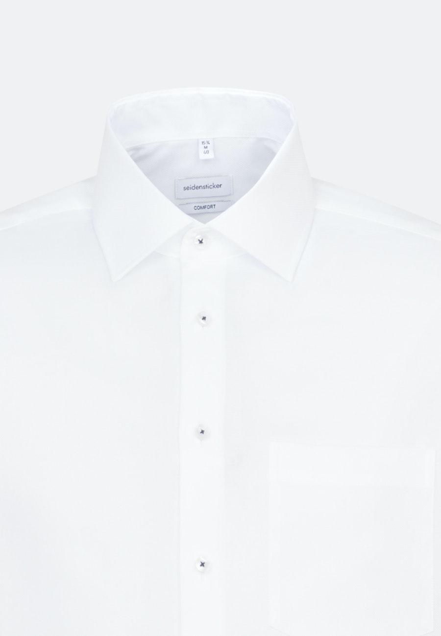 Bügelfreies Struktur Business Hemd in Comfort mit Kentkragen in Weiß    Seidensticker Onlineshop