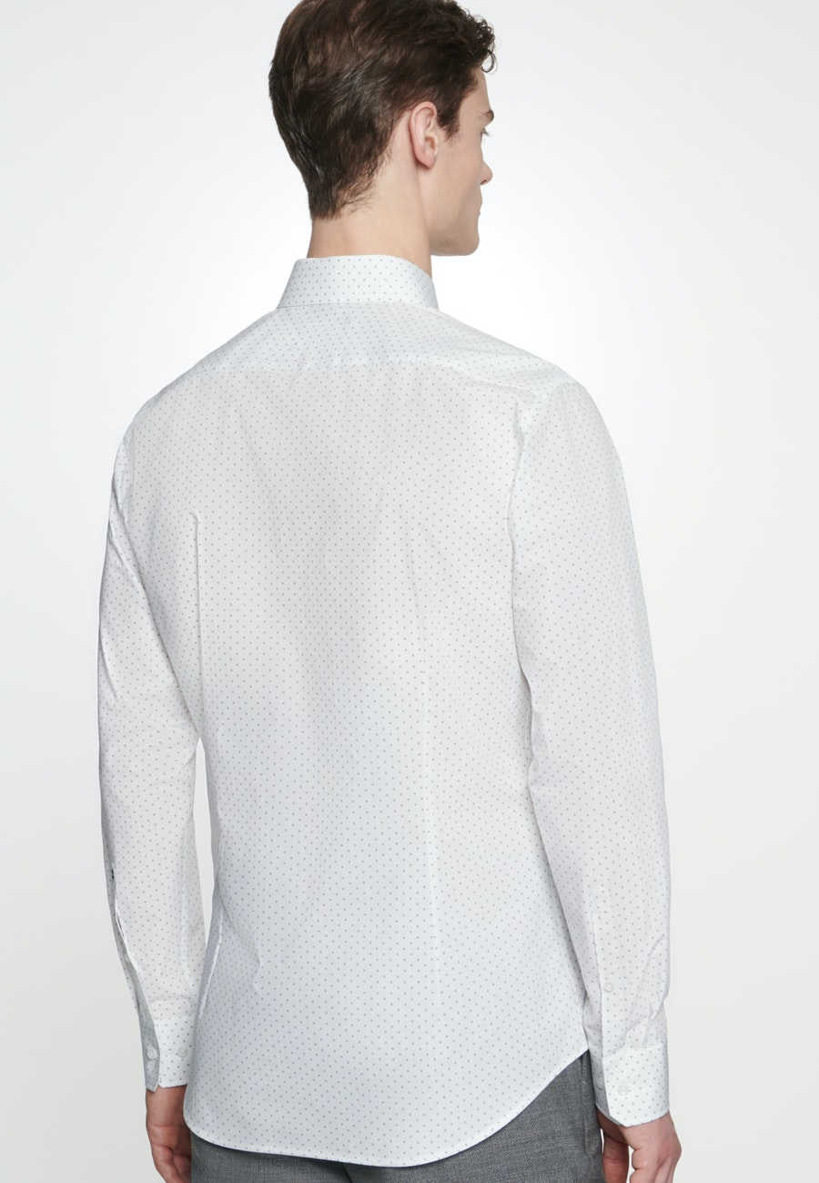 Easy-iron Popeline Business Shirt in Slim with Kent-Collar in White |  Seidensticker Onlineshop