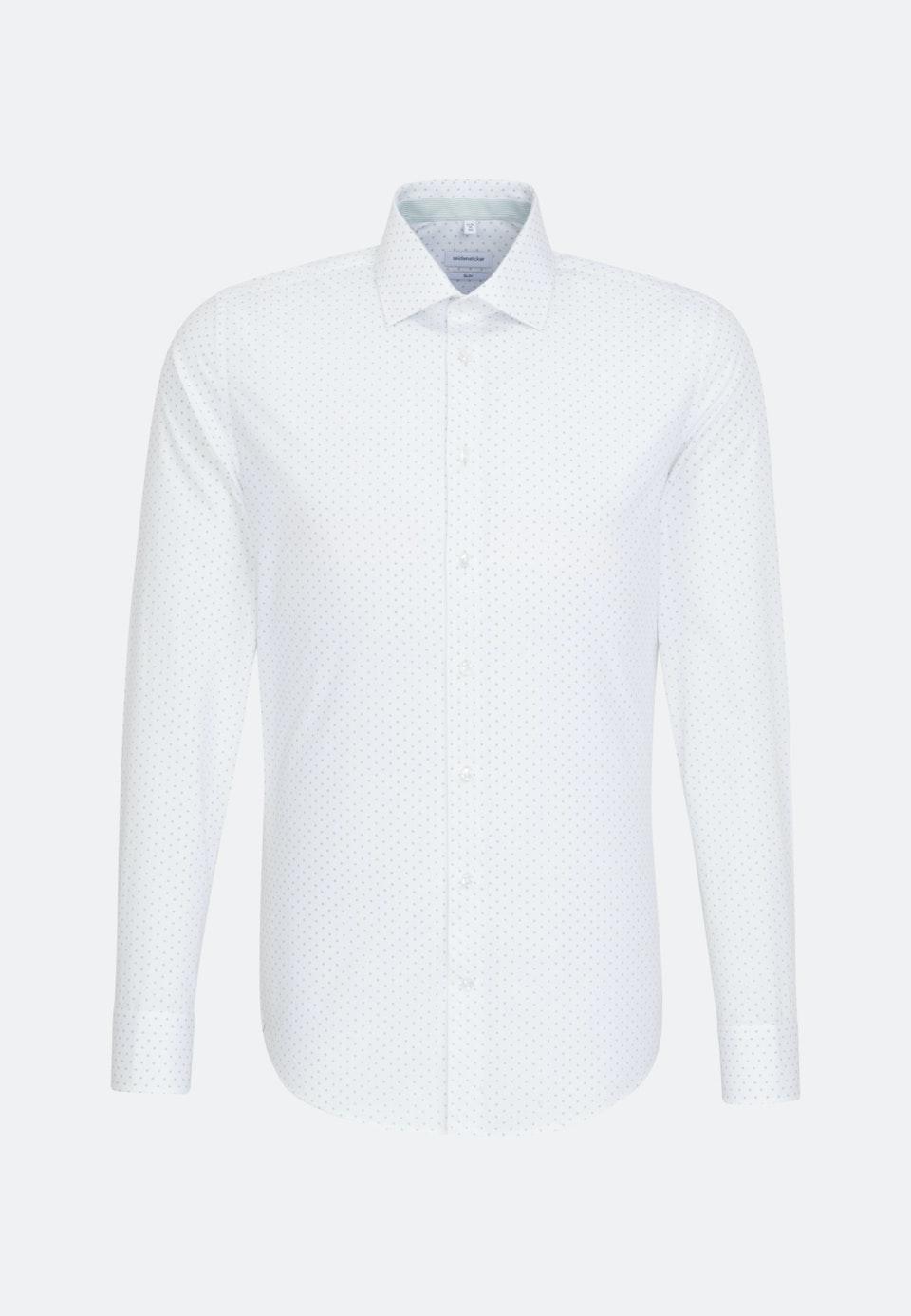 Bügelleichtes Popeline Business Hemd in Slim mit Kentkragen in Weiß    Seidensticker Onlineshop