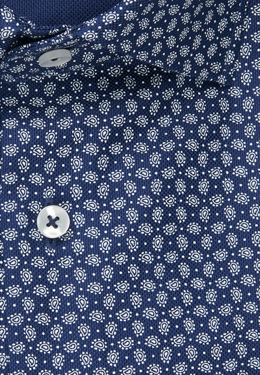 Easy-iron Struktur Business Shirt in Regular with Kent-Collar and extra long sleeve in Medium blue |  Seidensticker Onlineshop