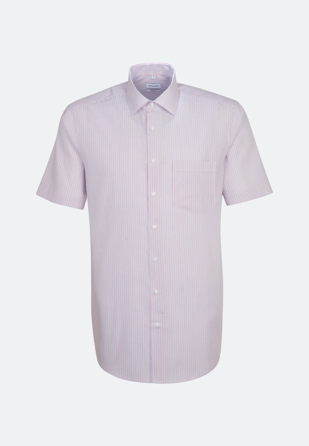 Non-iron Poplin Short sleeve Business Shirt in Regular with Kent-Collar in Red |  Seidensticker Onlineshop