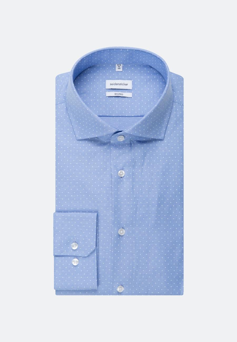 Bügelleichtes Struktur Business Hemd in Shaped mit Kentkragen in Hellblau |  Seidensticker Onlineshop