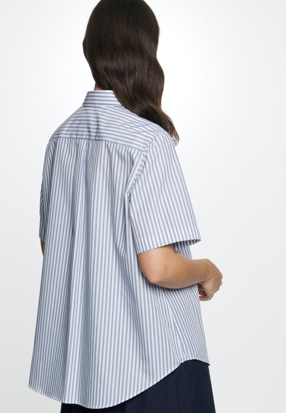 Short sleeve Popeline Shirt Blouse made of 100% Cotton in Light blue |  Seidensticker Onlineshop