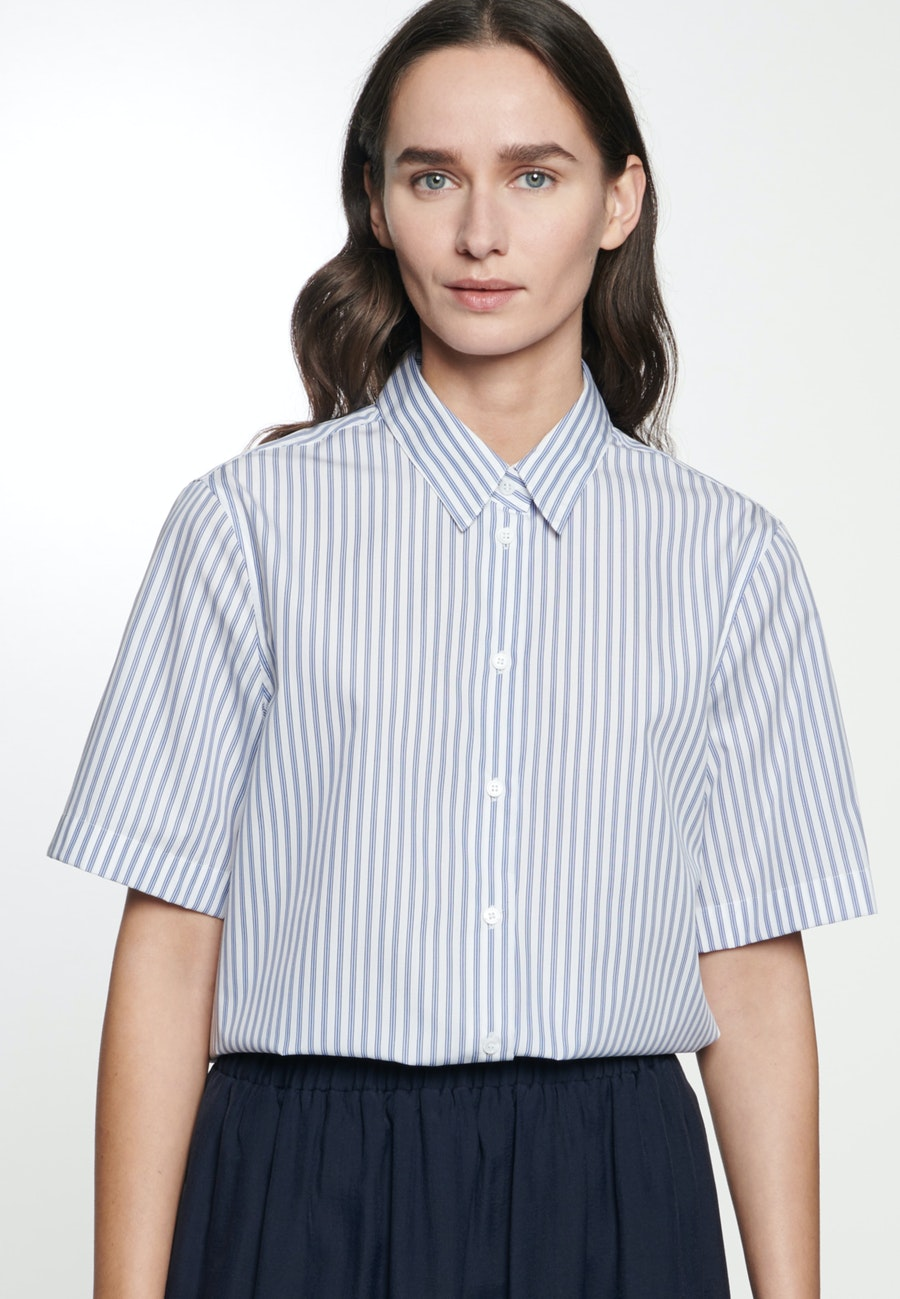 Short sleeve Poplin Shirt Blouse made of 100% Cotton in Light blue |  Seidensticker Onlineshop