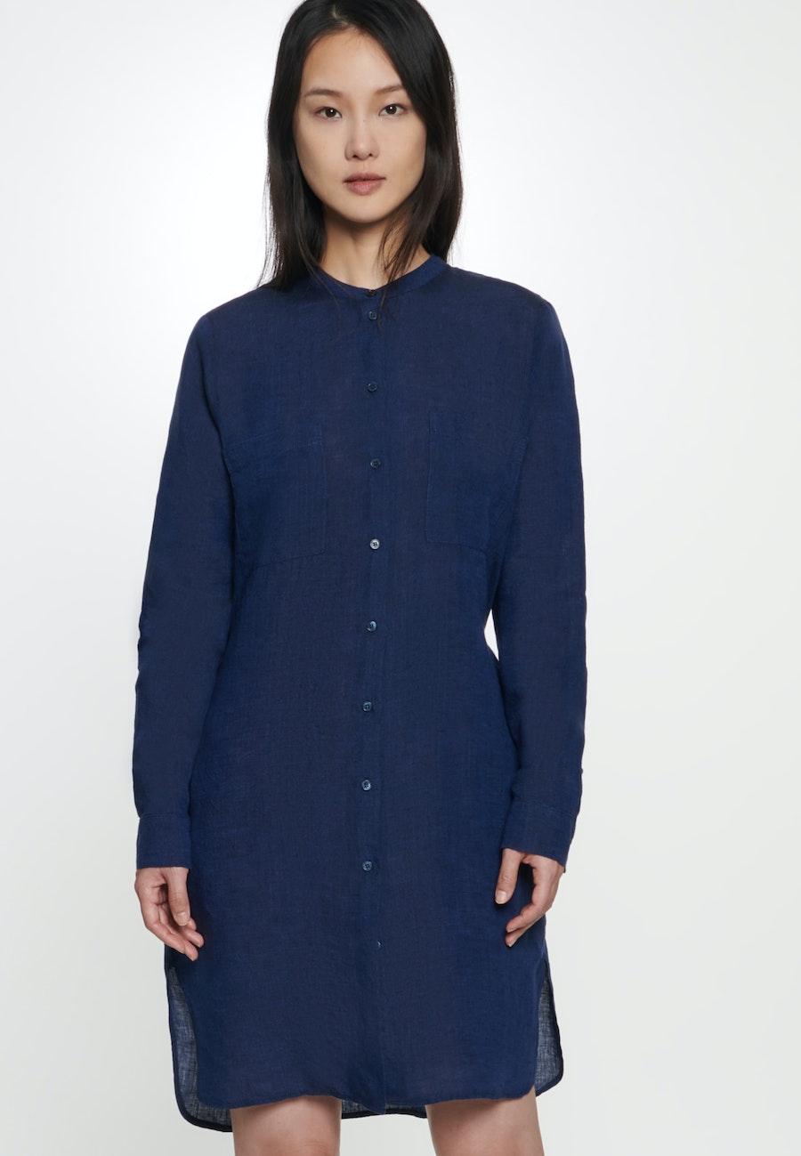 Linen Midi Dress made of 100% Linen in Dark blue |  Seidensticker Onlineshop