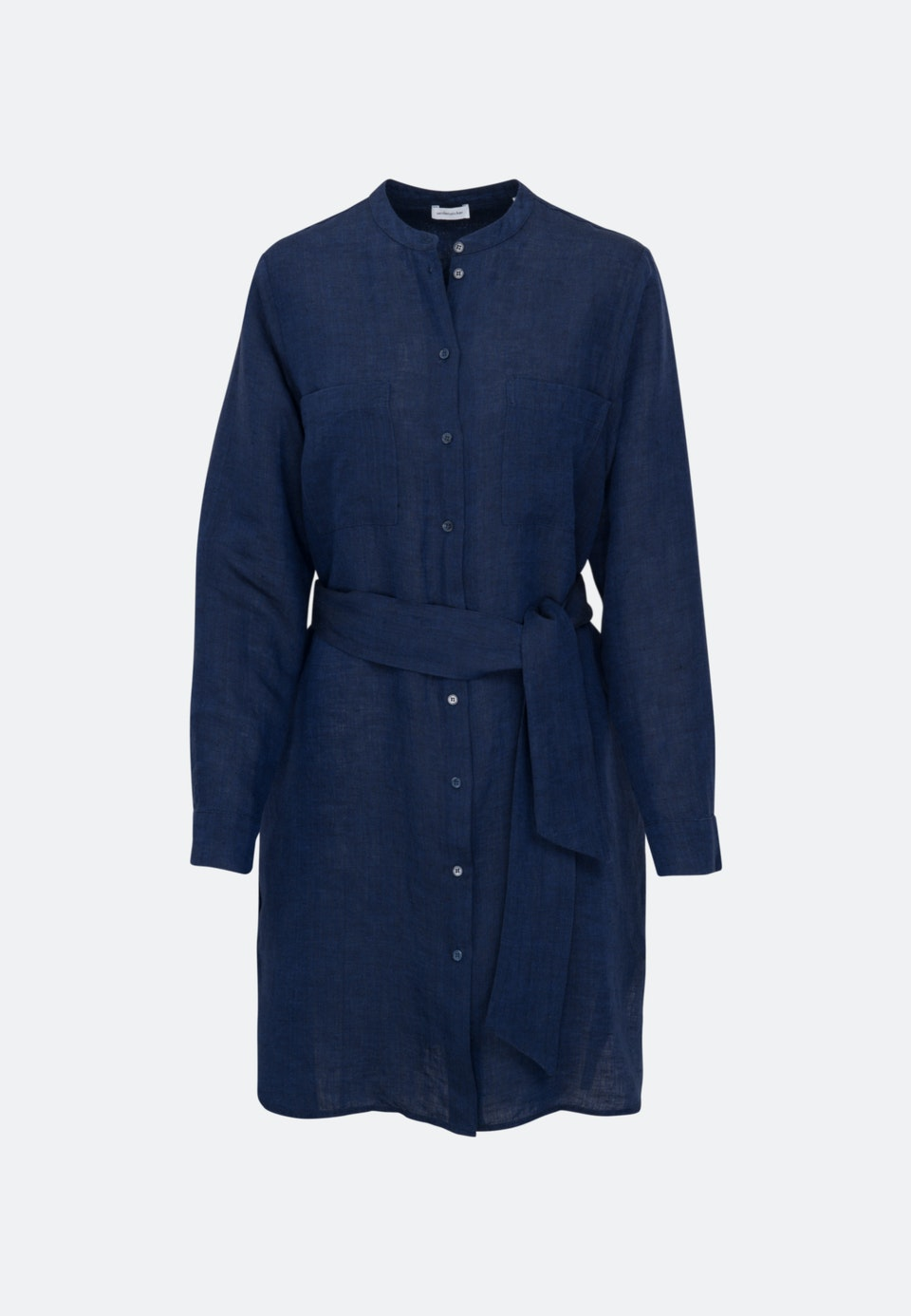 Linen Midi Dress made of 100% Linen in Dark blue    Seidensticker Onlineshop