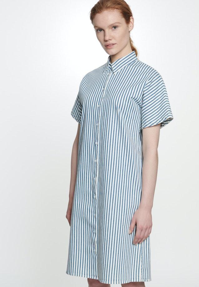 Twill Midi Kleid aus Baumwollmischung in Mittelblau |  Seidensticker Onlineshop