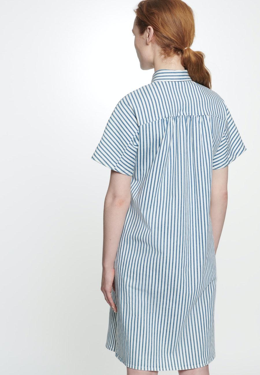 Twill Midi Kleid aus Baumwollmischung in Mittelblau    Seidensticker Onlineshop
