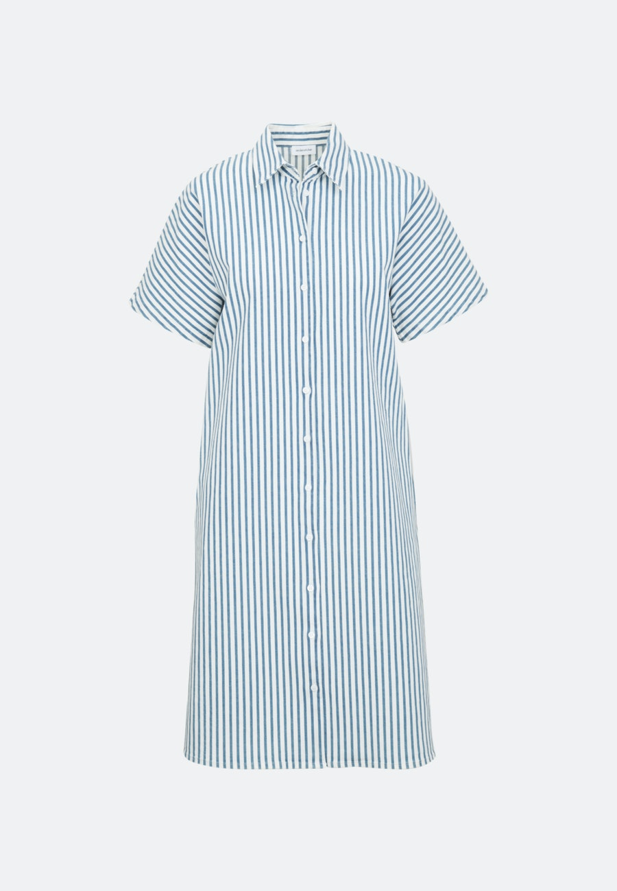 Twill Midi Dress made of cotton blend in Medium blue |  Seidensticker Onlineshop