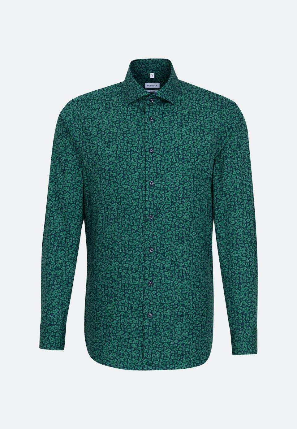 Easy-iron Poplin Business Shirt in Shaped with Kent-Collar in Green    Seidensticker Onlineshop