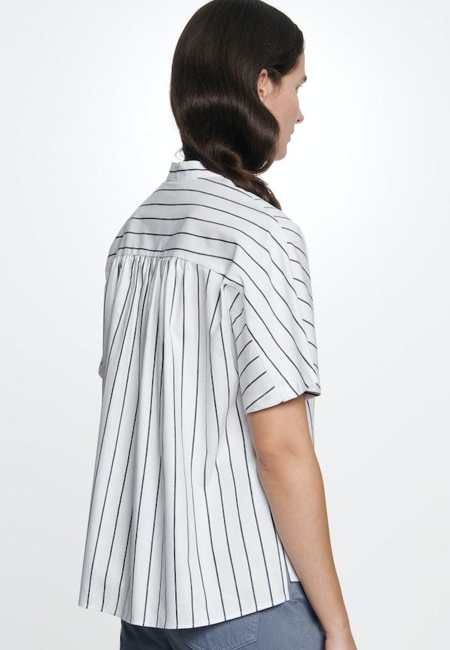 Kurzarm Popeline Hemdbluse aus Leinenmischung in Weiß    Seidensticker Onlineshop
