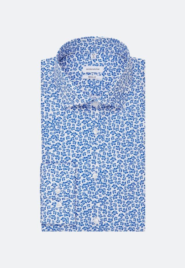 Easy-iron Poplin Business Shirt in Regular with Kent-Collar in Medium blue    Seidensticker Onlineshop