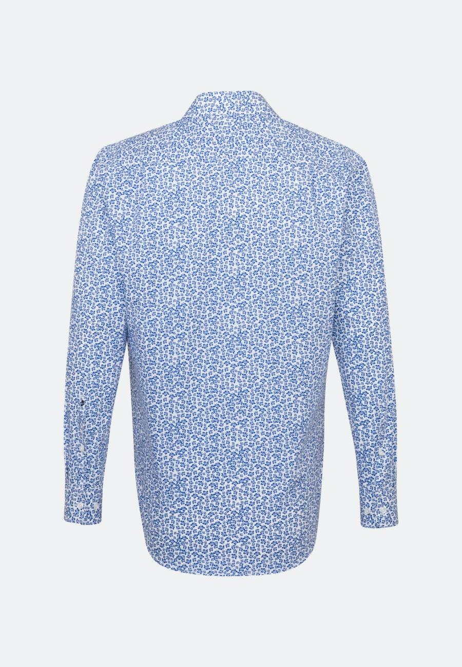 Easy-iron Popeline Business Shirt in Regular with Kent-Collar in Medium blue |  Seidensticker Onlineshop