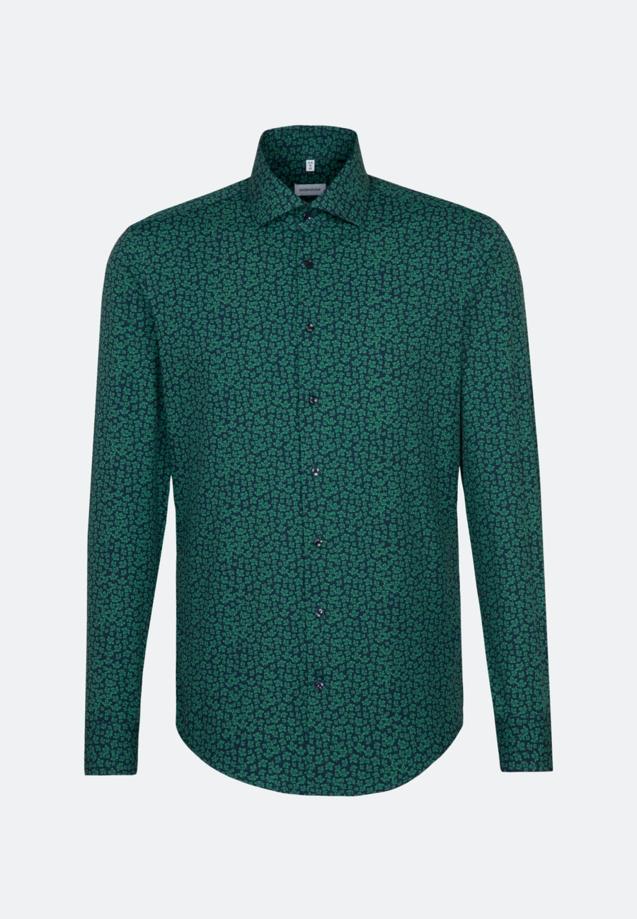 Easy-iron Poplin Business Shirt in Regular with Kent-Collar in Green |  Seidensticker Onlineshop