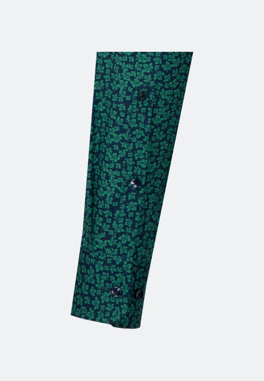 Bügelleichtes Popeline Business Hemd in Regular mit Kentkragen in Grün    Seidensticker Onlineshop