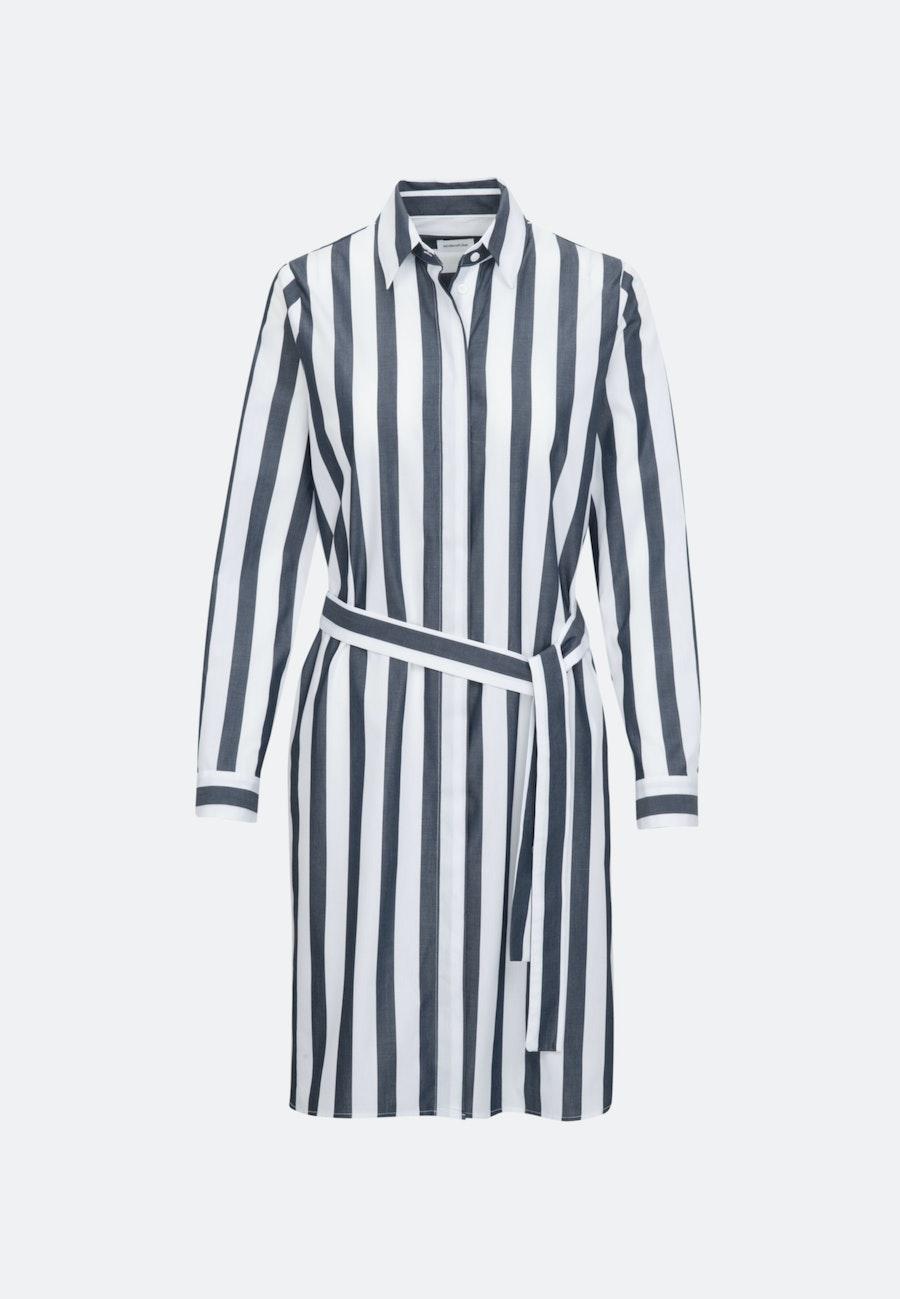 Popeline Midi Dress made of 100% Cotton in Dark blue    Seidensticker Onlineshop