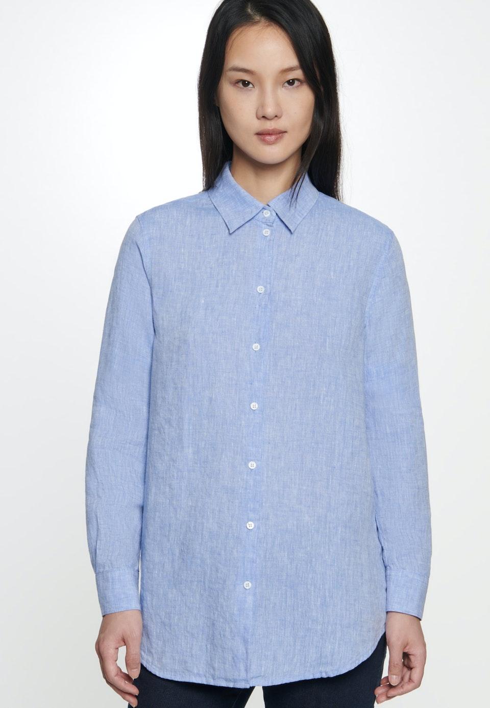 Leinen Hemdbluse aus 100% Leinen in Mittelblau    Seidensticker Onlineshop