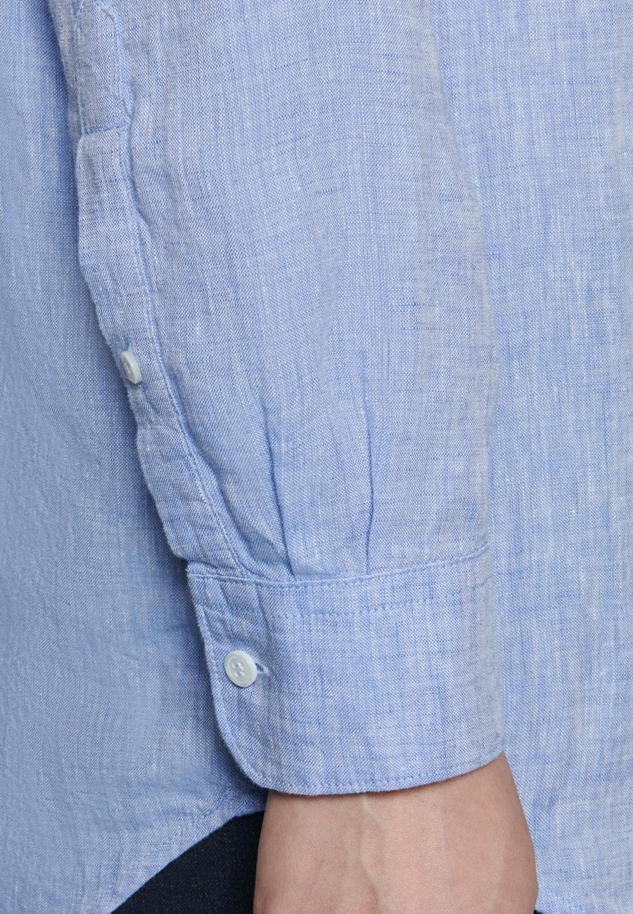 Linen Shirt Blouse made of 100% Linen in Medium blue |  Seidensticker Onlineshop