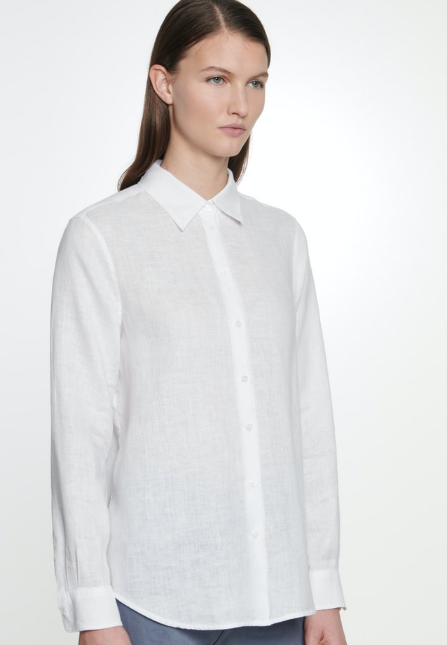 Linen Shirt Blouse made of 100% Linen in White |  Seidensticker Onlineshop