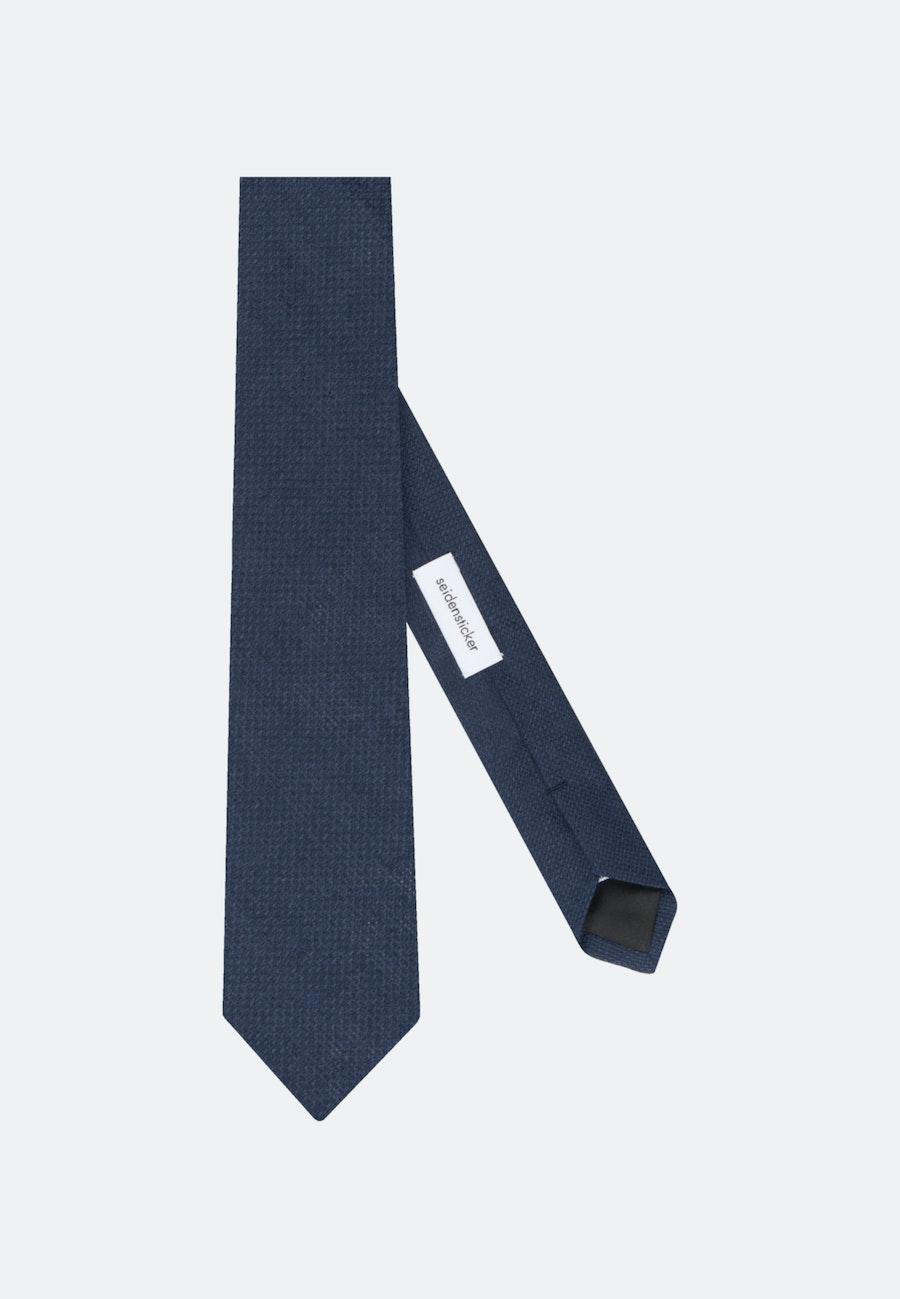 Tie made of 100% Linen 7 cm wide in Dark blue    Seidensticker Onlineshop
