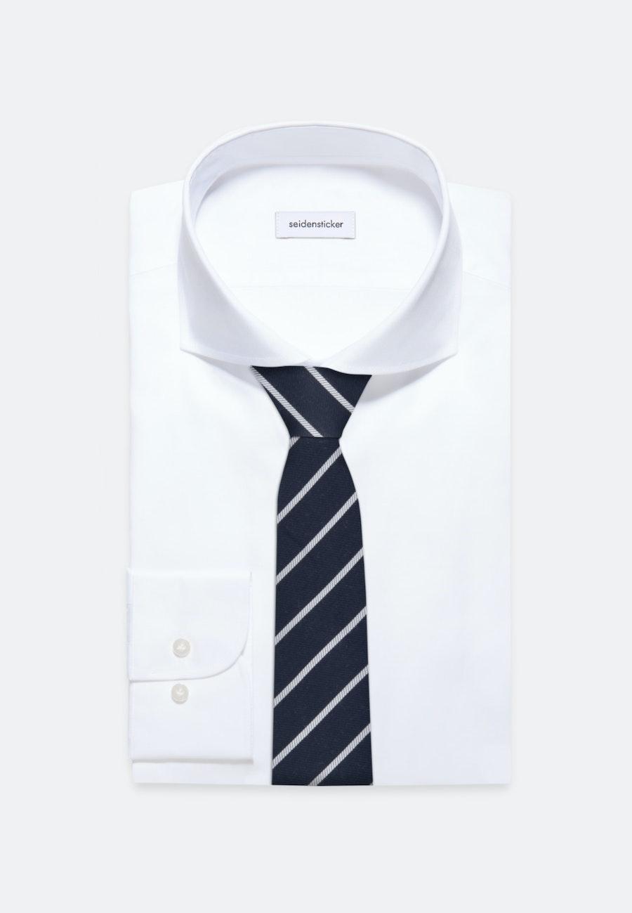 Krawatte aus Seidenmischung 7 cm Breit in Dunkelblau    Seidensticker Onlineshop