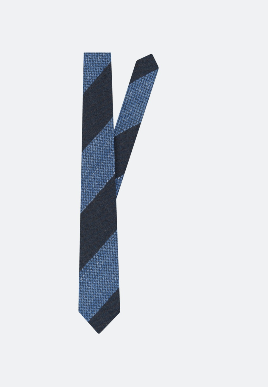 Tie made of Silk-Linen Blend 7 cm wide in Dark blue |  Seidensticker Onlineshop