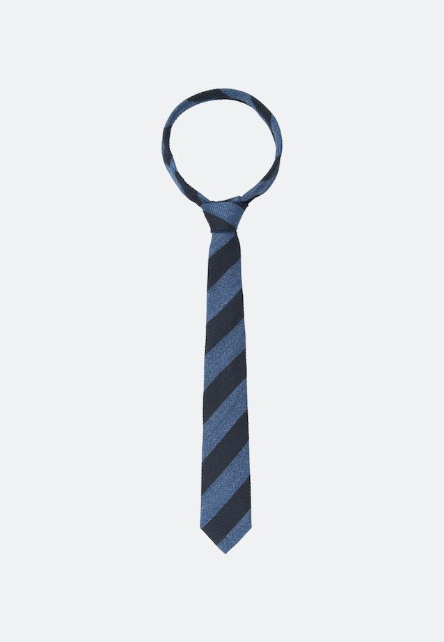 Tie made of Silk-Linen Blend 7 cm wide in Dark blue |  Seidensticker Onlineshop