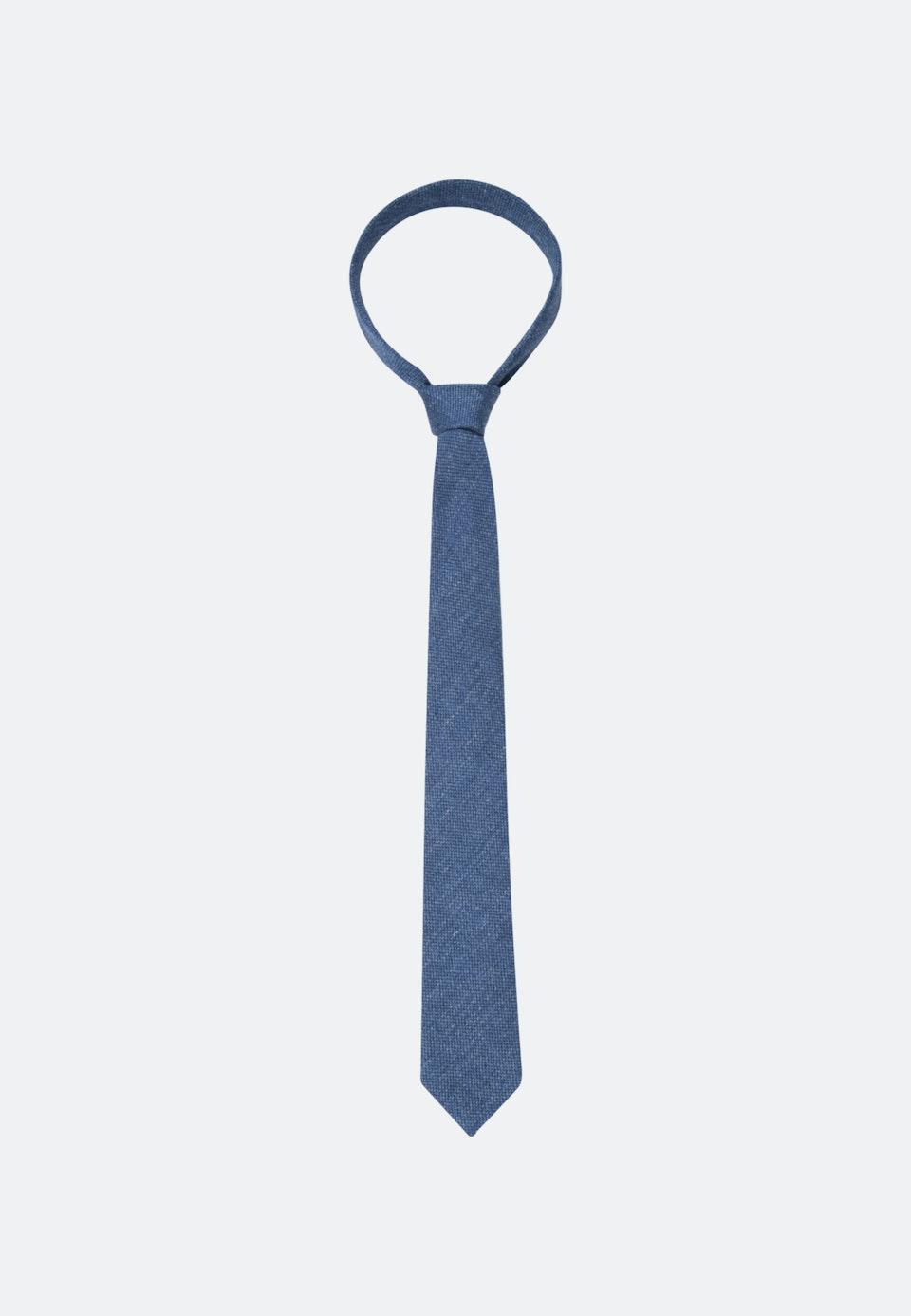 Tie made of Silk-Linen Blend 7 cm wide in Medium blue |  Seidensticker Onlineshop