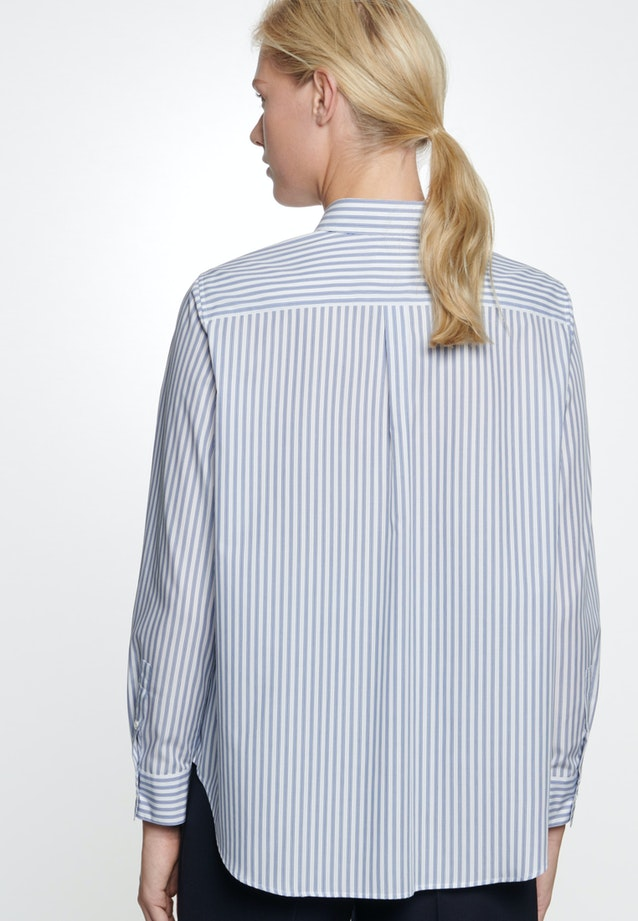 Popeline Shirt Blouse made of 100% Cotton in Light blue |  Seidensticker Onlineshop
