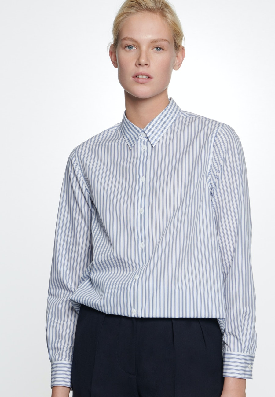 Poplin Shirt Blouse made of 100% Cotton in Light blue |  Seidensticker Onlineshop