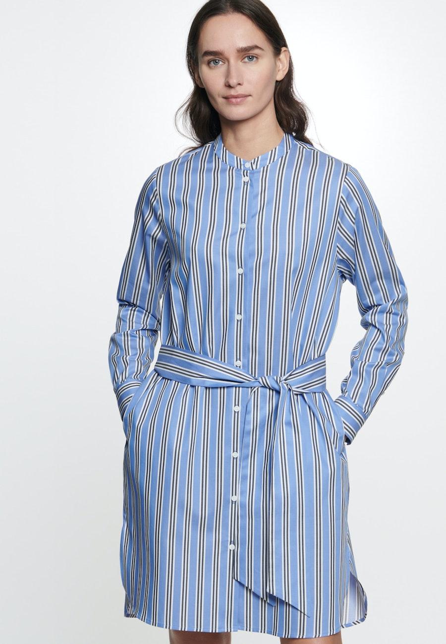 Twill Midi Dress made of 100% Cotton in Medium blue |  Seidensticker Onlineshop
