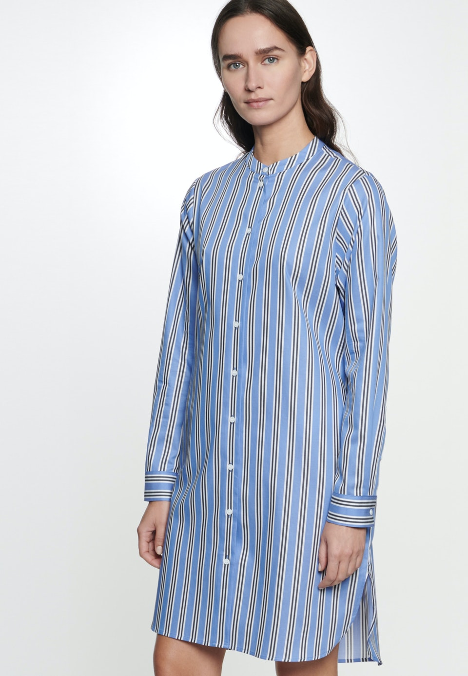 Twill Midi Kleid aus 100% Baumwolle in Mittelblau    Seidensticker Onlineshop