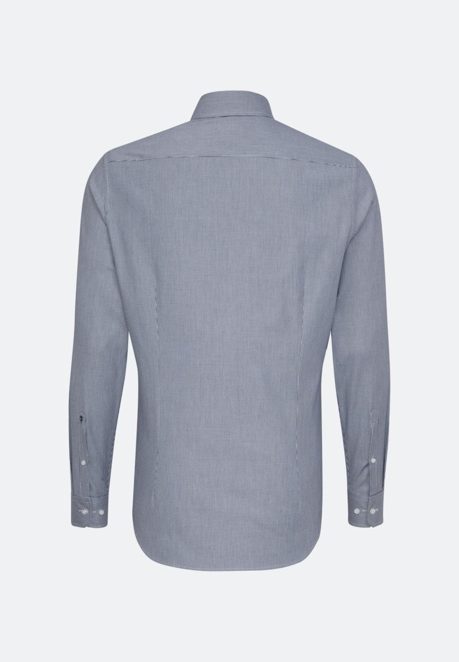 Easy-iron Struktur Business Shirt in Slim with Kent-Collar in Dark blue    Seidensticker Onlineshop