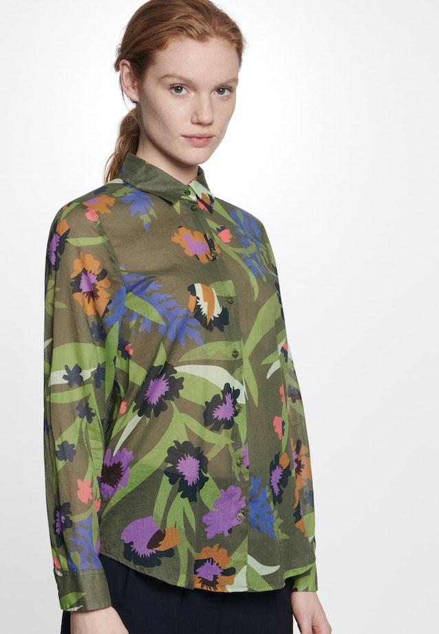 Voile Hemdbluse aus 100% Baumwolle in Grün |  Seidensticker Onlineshop