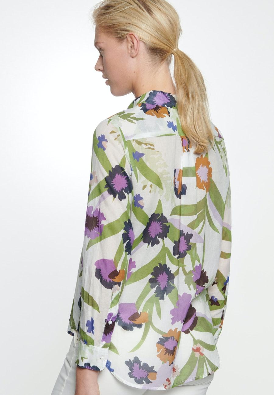 Voile Shirt Blouse made of 100% Cotton in Ecru    Seidensticker Onlineshop