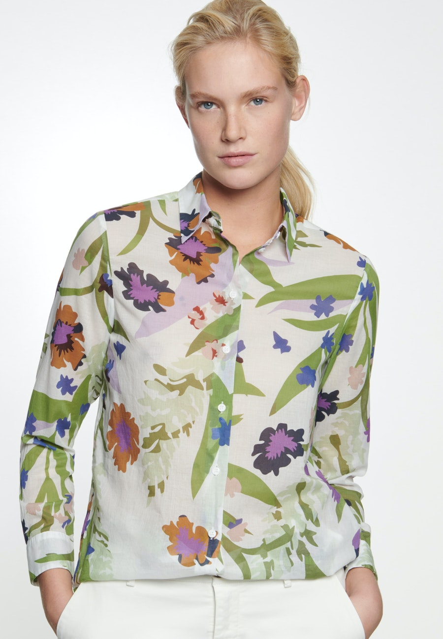 Voile Hemdbluse aus 100% Baumwolle in Ecru    Seidensticker Onlineshop