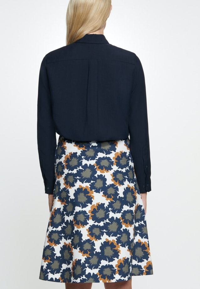 Poplin Midi Skirt made of cotton blend in Dark blue |  Seidensticker Onlineshop