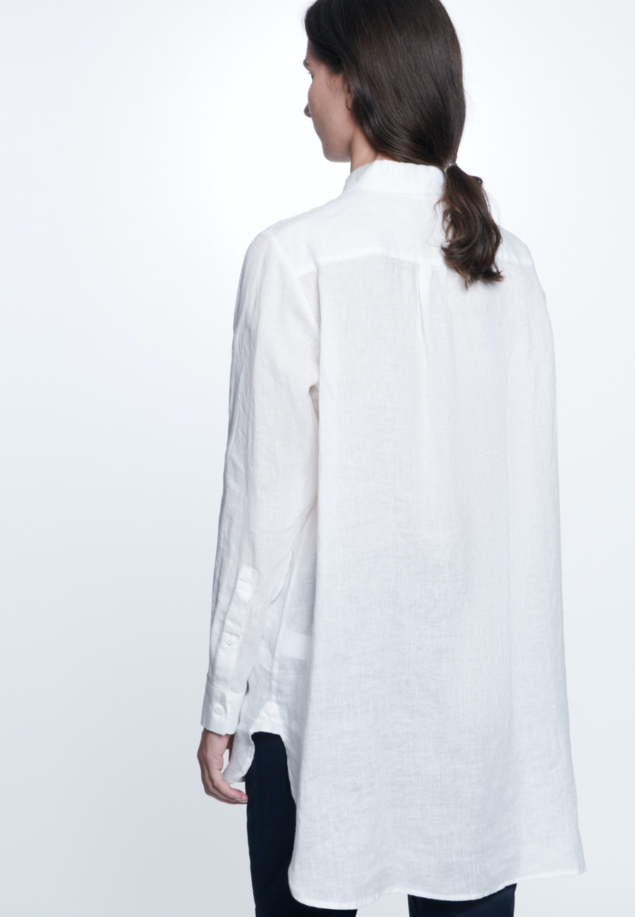 Linen Long Blouse made of 100% Linen in Ecru |  Seidensticker Onlineshop