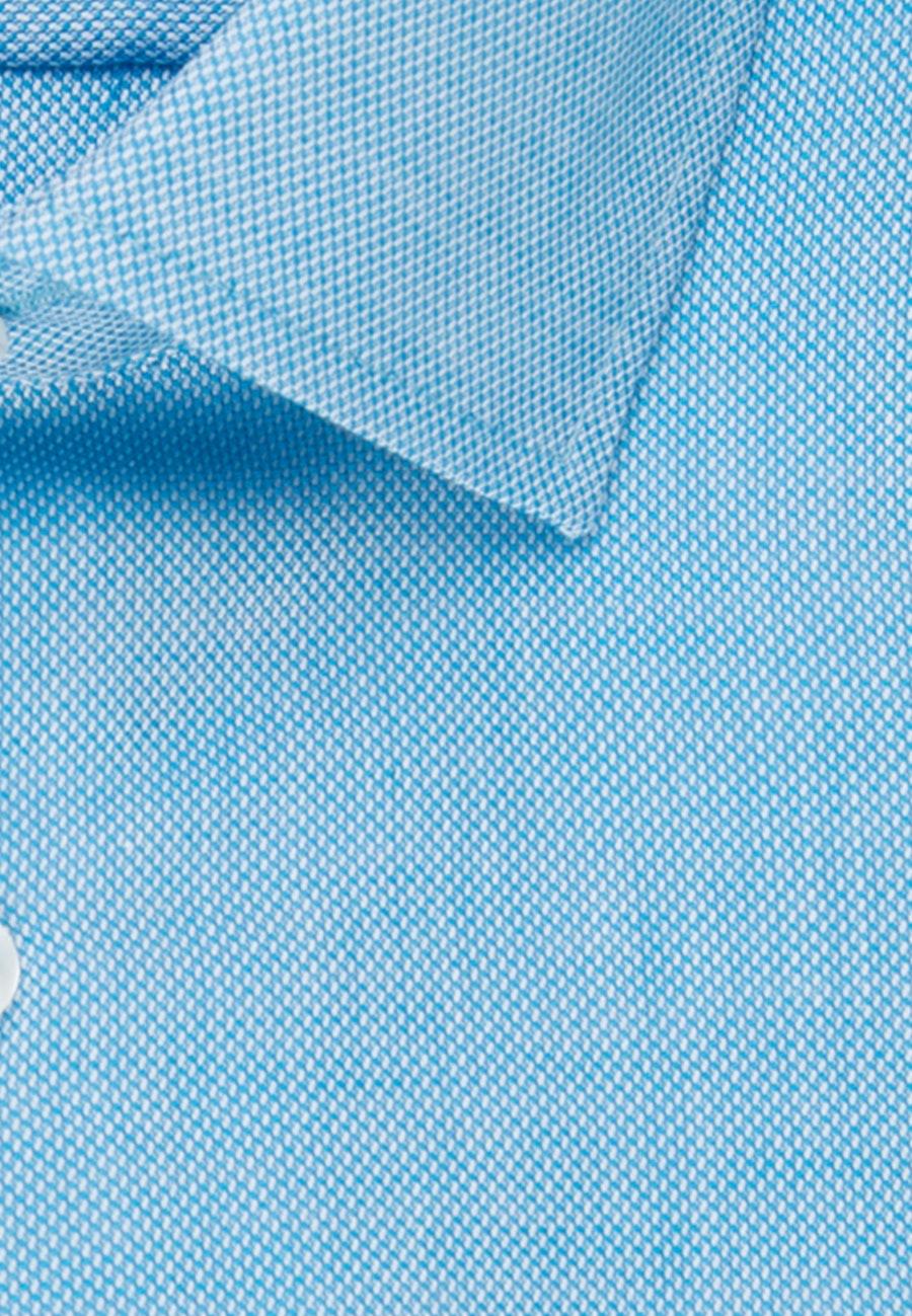 Bügelleichtes Struktur Business Hemd in Slim mit Kentkragen in Türkis/Petrol |  Seidensticker Onlineshop
