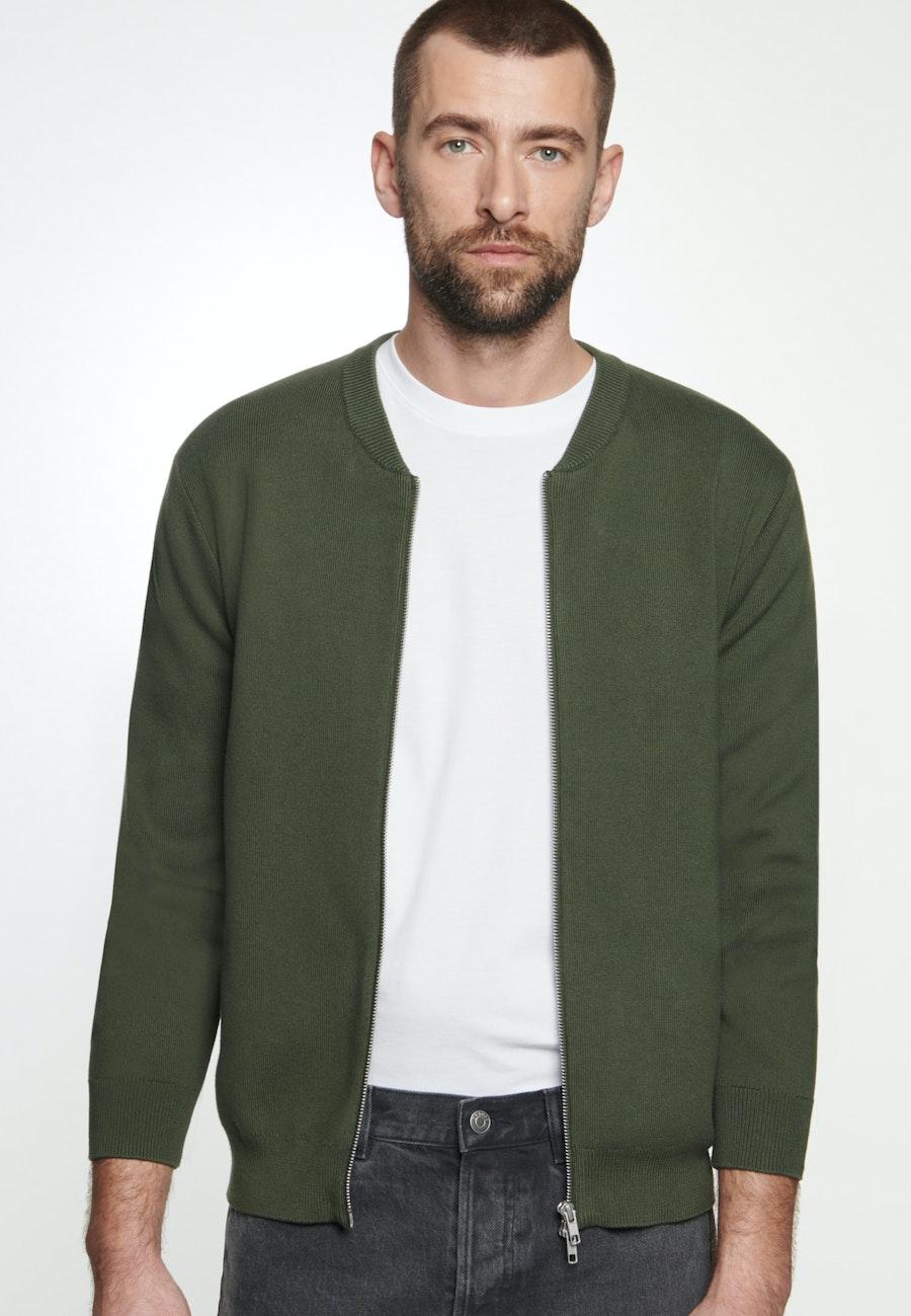 Knit Bomber made of 100% Cotton in Green |  Seidensticker Onlineshop