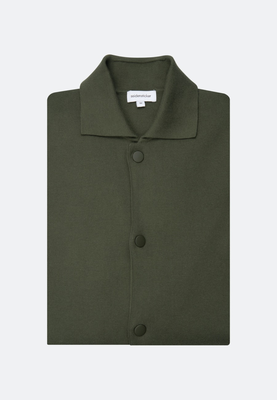 Collar Cardigan made of 100% Cotton in Green |  Seidensticker Onlineshop