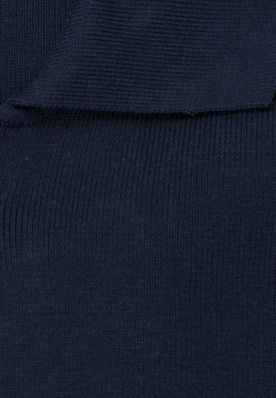 Collar Cardigan made of 100% Cotton in Dark blue    Seidensticker Onlineshop
