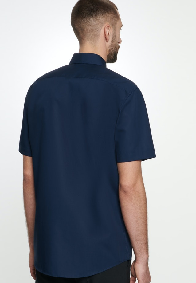Non-iron Popeline Short sleeve Business Shirt in Regular with Kent-Collar in Dark blue |  Seidensticker Onlineshop